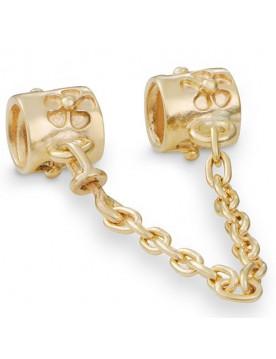 Pandora 14k Gold Clips 14k Flower Safety Chain